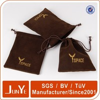 logo printed microfiber lens pouches with drawstring