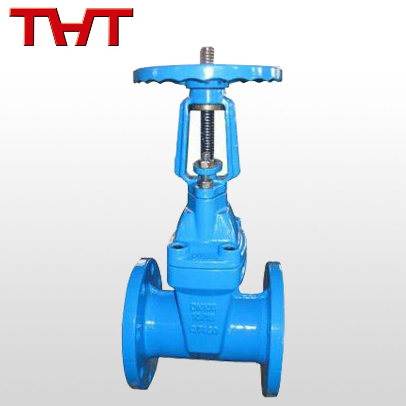 high performance rubber soft seal solid wedge shut-off gate valve
