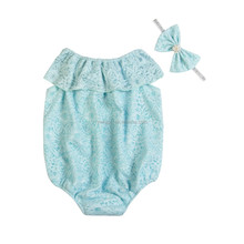 Kapu craft lovely lace romper baby lace seaside lovely romper wholesale price novel design