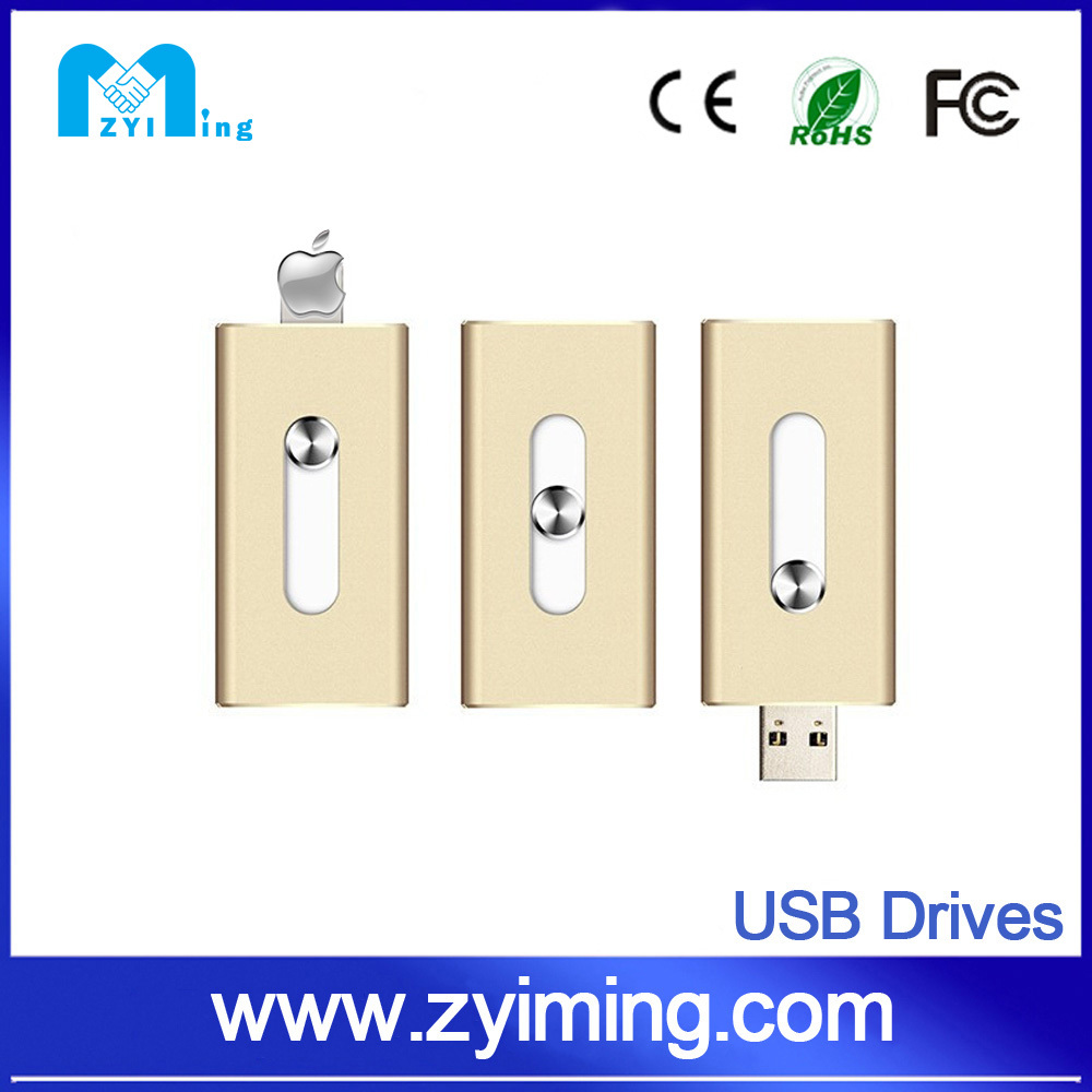 Zyiming Fancy usb 3.0 otg flash drive dual usb flash drive for iphone