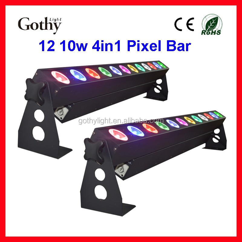 Gothylight 12 x 10w RGBW Pixel Bar stage light mixer