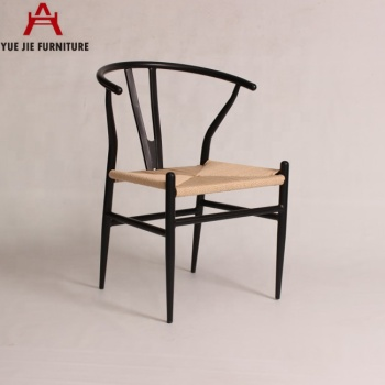 Metal Materials Rattan Seat Y Chair