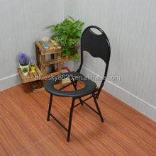 Portable useful folding small bathroom toilet chair for elderly
