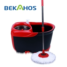 Bekahos Hot sale China Red household spin mop bucket with wheels