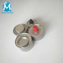 screw top cap ethanol chafing fuel metal tin can