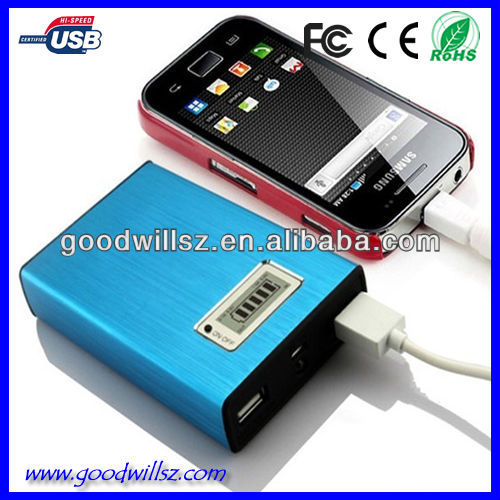 12000mAh all color rectangle portable charger power bank