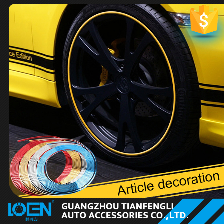 Auto Car Tire Wheel Rim Edge Anti-Scratch Protector Ring Tape Rubber Strip