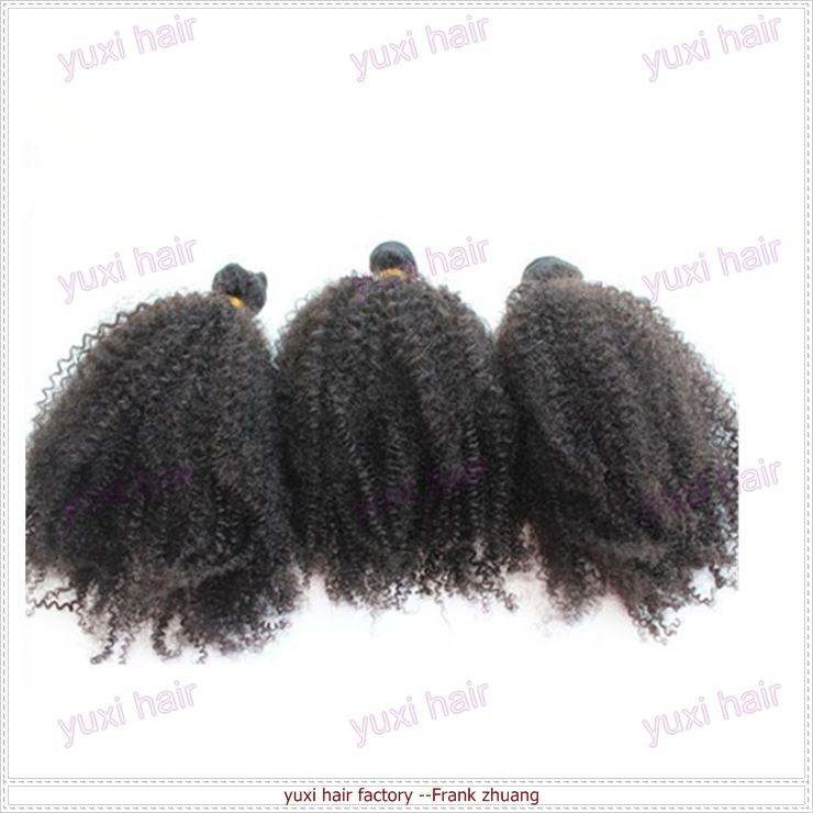 Top quality Real Virgin Remy Human afro kinky curly hair extension kinky curly weaving