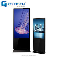 Hard glass cover ultra strong and resistant advertising player android system lcd 42 inch hotel digital signage