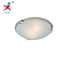 sandblast glass ceiling lamp shades /round curved glass light cover /tempered bent glass lamp