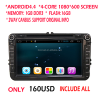 car dvd player for vw polo android4.4 quad core 1080*600 HD digital touch Screen vw dvd gps with 16GB flash