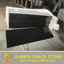 Chinese Polished Mongolia Black Granite For Tombstone Table Countertop Stone