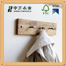 Wholesale rustic vintage decorative wooden wall hooks customized design wall mounted clothes hook