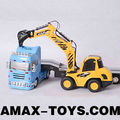 re-0232b model tow truck 1:32 RC Tow truck with excavator