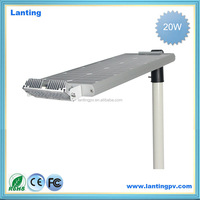 solar Street light price, 20W LED, Economic Design, Full +Half Power 12 Hrs