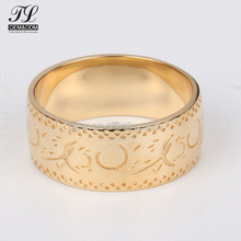 Customized bling fancy couple ring saudi arabia gold wedding ring price+fake gold ring 18k