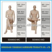 high quality pu foam male full body mannequin dummy