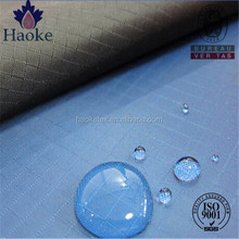 pu coating 600D 0.5cm ripstop polyester water repellent fabric