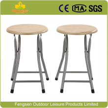 Simple MDF metal folding stool round folding stool