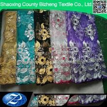 wholesale embroidery wedding dress tulle lace curtain fabric