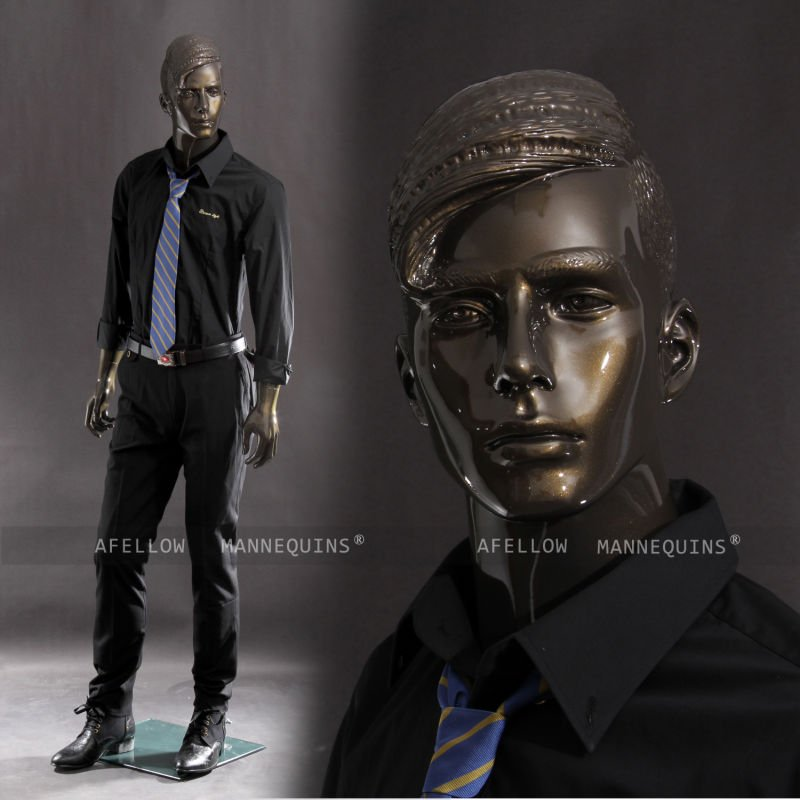 AFELLOW Male mannequin realistic mannequin glossy bronze mannequin Bruce3