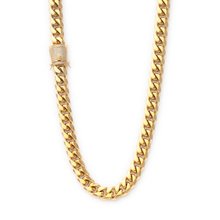 Missjewelry Heavy Stainless Steel Miami Cuban Link 18K Gold Plated Chain Necklace Jewelry