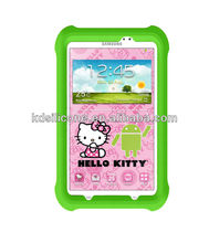 custom kids silicon case for samsung galaxy tab3 7.0 Hello Kitty Edition