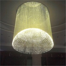 Fiber Optic Lights with 45 watt RGB Led Motor Chandelier for Banquet Hall