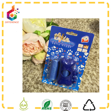 Blister card packing pet poop bag with holder dog waste bags