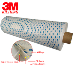 Competitive Price For Jumbo Roll Double Side Adhesive PE Foam 3M Tape 1600T, white color, 1.0mm thickness, 1200MM X 30M
