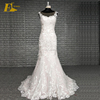 Illusion Back Light Pink color Lace Appliques Mermaid Patterns Alibaba Wedding Dress