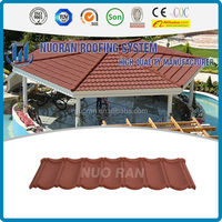 NUORAN japanese style roof tile made in China/corrugation classic stone metal roof tile