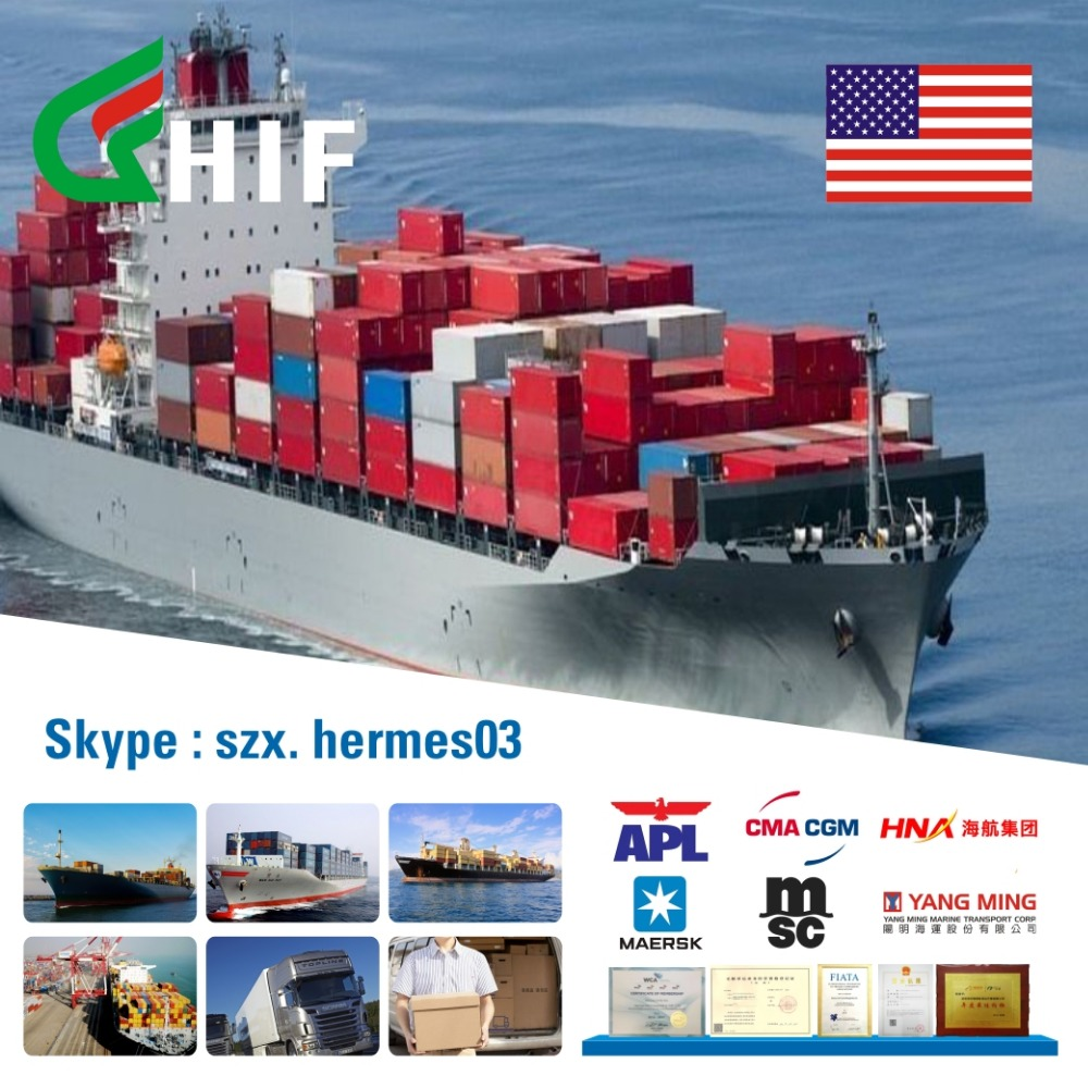 shenzhen freight forwarder transportation import goods from china to new york