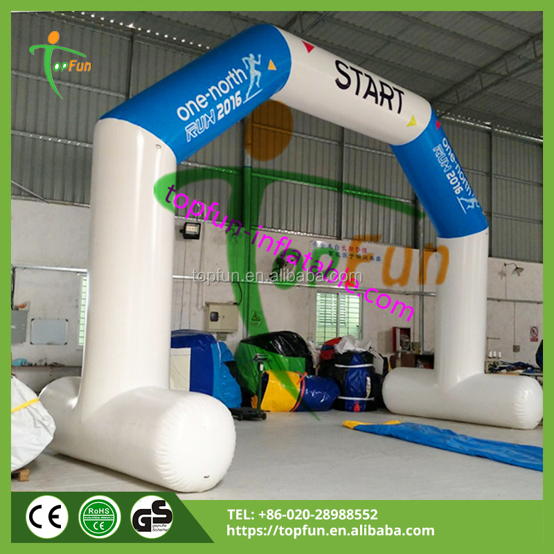 10m Airtight Inflatable Advertising Arch With Bases