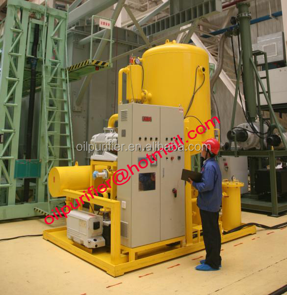 Power transformer oil filtration, dehydrating and degassing equipment