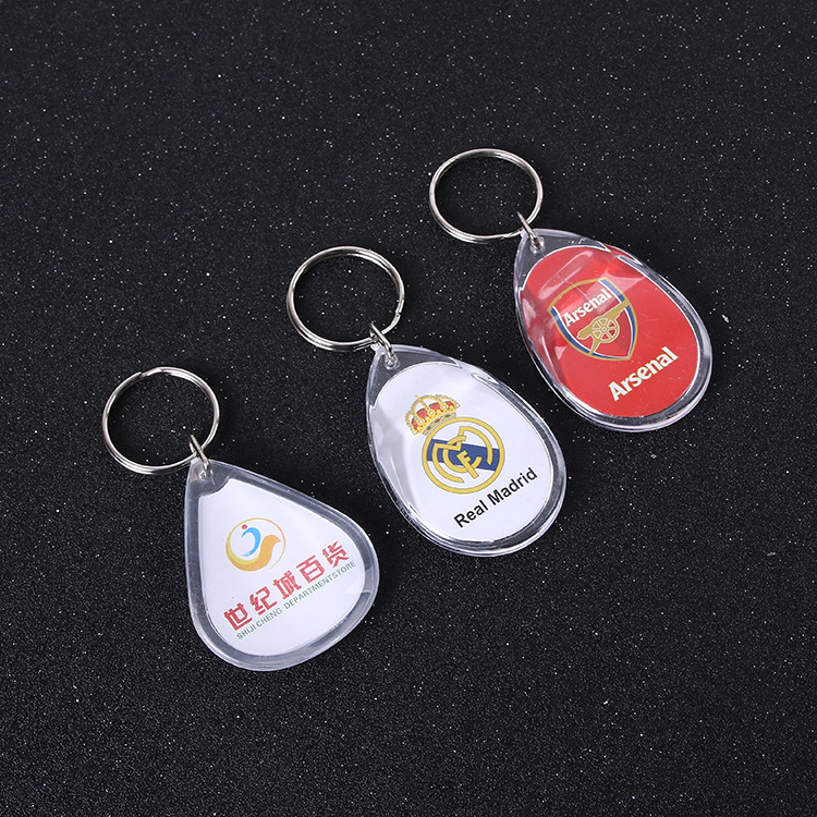 Wholesale Custom shape blank photo frame acrylic  keychain