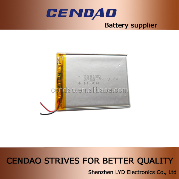 Hot sale small and ultra thin lipo battery cell 383840 3.7V 530mah rechargeble lithium polymer battery 383840