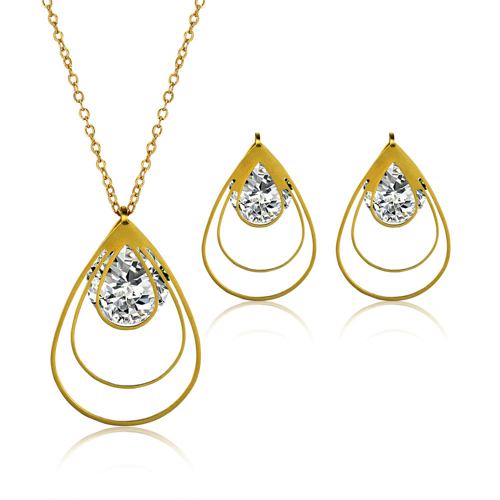 18 karat gold plated fashion jewelry sets pendant necklace