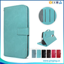 Wholesale Crystal crazy horse grain photo frame card slot case wallet case for nokia lumia 230 leather case