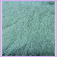 100mm long hair shaggy mongolian lamb fur faux fur wool fabric
