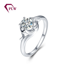 PLW0805R Solitaire style single Moissanite stone 18k gold casting ring simple designs for ladies