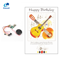 Lovely best wishes singing birthday invation card with sound chip