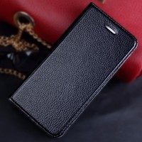 High Grade Leather Purse Wallet for iPhone 6 Plus case leather with card slots 2015 newest factory price wholesale
