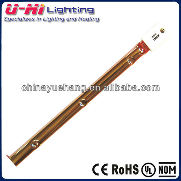infrared heating lamp with gold coated reflector