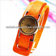 Fashion brown wrist band popular lady watch straps leather classical design