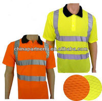 Fluorescent high quality wholesale reflective safety cheap t shirts class 2