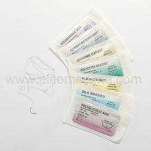 Surgical absorbable chromic catgut sutures thread with needle
