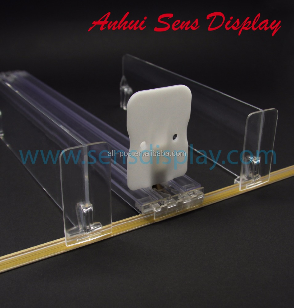 plastic transparent shelf pusher tray for cigarette