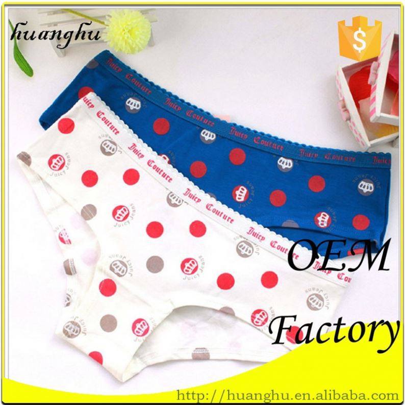 Trendy classic factory price flower print g string brief