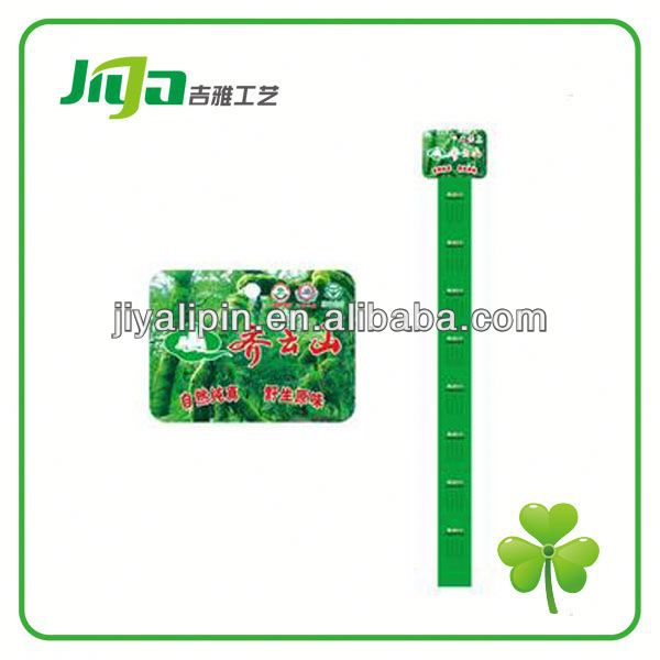 Promotional clear plastic Plastic supermarket hang strip